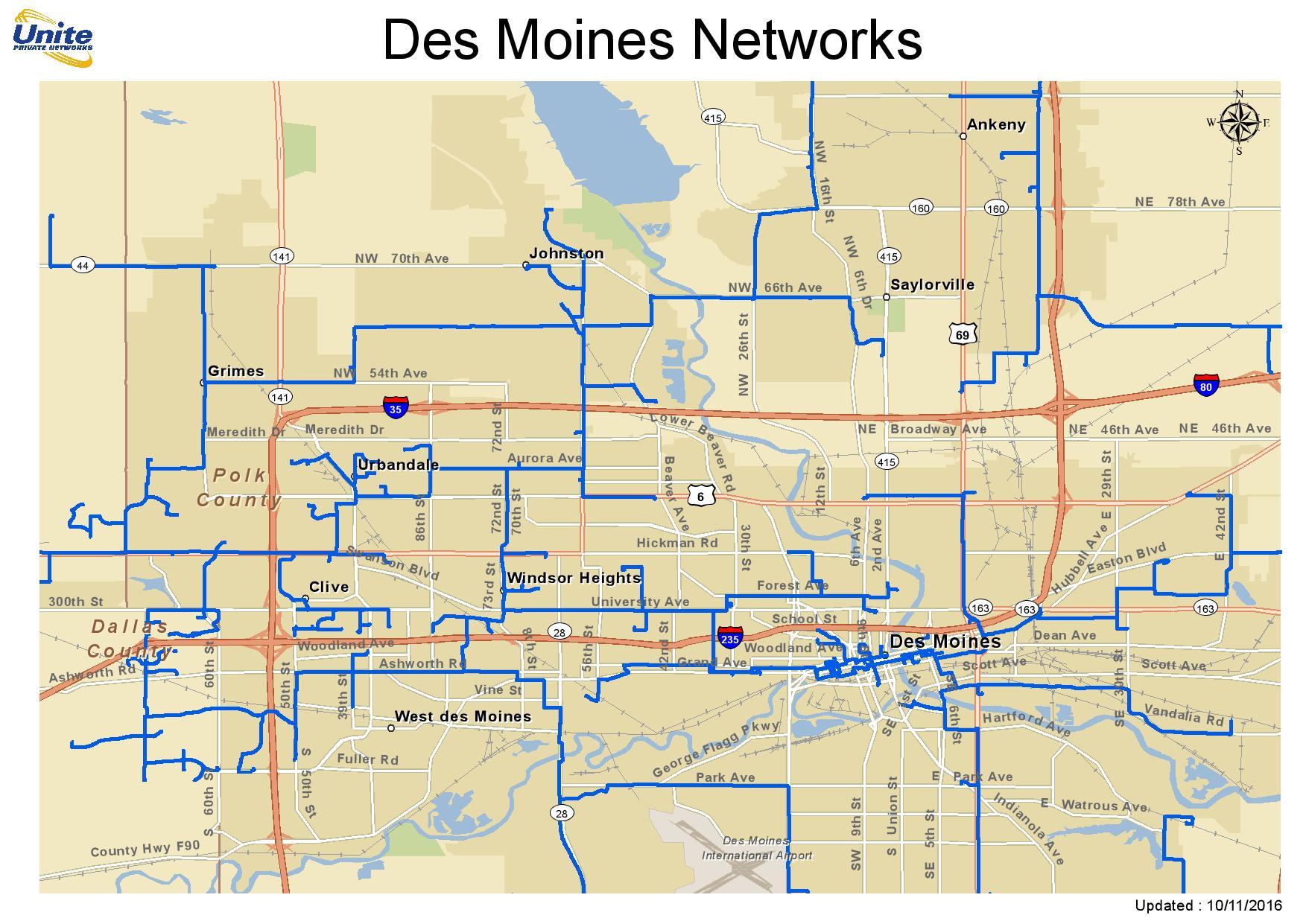 Metro Fiber Maps | UPN